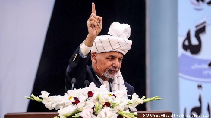 Der afghanische Präsident Aschraf Ghani bei seiner Rede vor der Loja Dschirga (Foto: AFP/Press Office of President of Afghanistan)