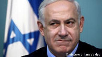 Der israelische Ministerpräsident Benjamin Netanjahu bei einer Pressekonferenz am 17.01.2010 in seinem Jerusalemer Büro (Foto: picture-alliance/dpa)