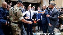 Libanon Beirut | nach Explosion im Hafenviertel | Emmanuel Macron