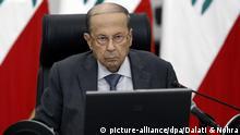 Libanon | Nach der schweren Explosion in Beirut | Präsident Michel Aoun