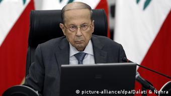 Libanon   Nach der schweren Explosion in Beirut   Präsident Michel Aoun
