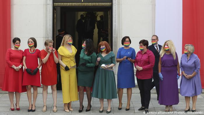 Oppositions members of parliament don rainbow colors in Poland