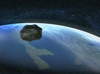 Meteorit Rast Auf Erde Zu 2021