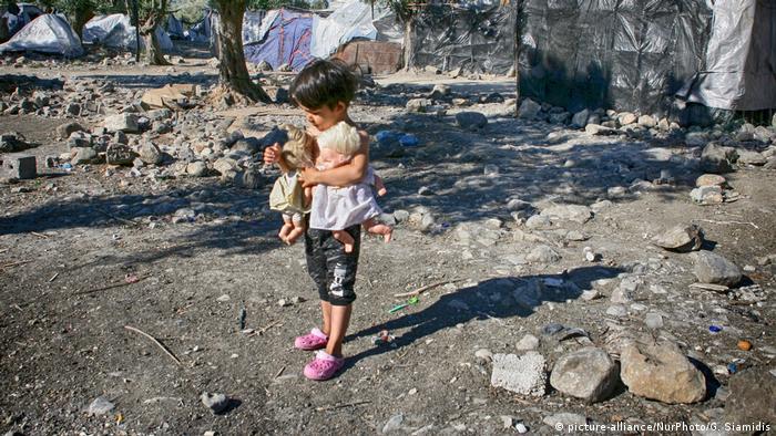 Griechenland Flüchtlingslager Moria (picture-alliance/NurPhoto/G. Siamidis)