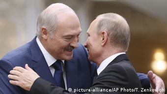 Александр Лукашенко и Владимир Путин 7 августа 2020 года