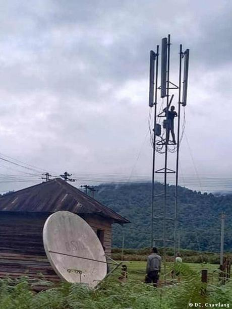 Indien Internetausbau im Ort Vijaynagar (Privat)