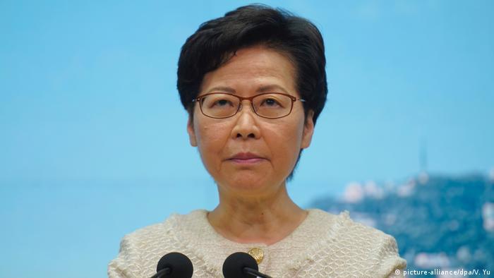 Carrie Lam | USA verhängen Sanktionen gegen Hongkongs Regierungschefin