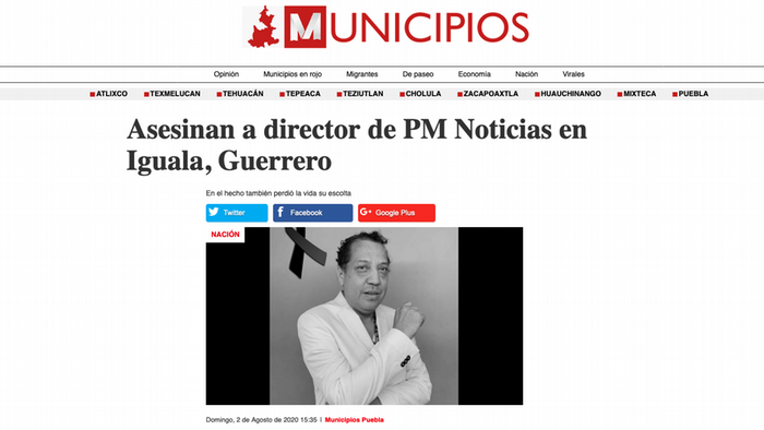 Screenshot MUNICIPIOS 7.8.2020