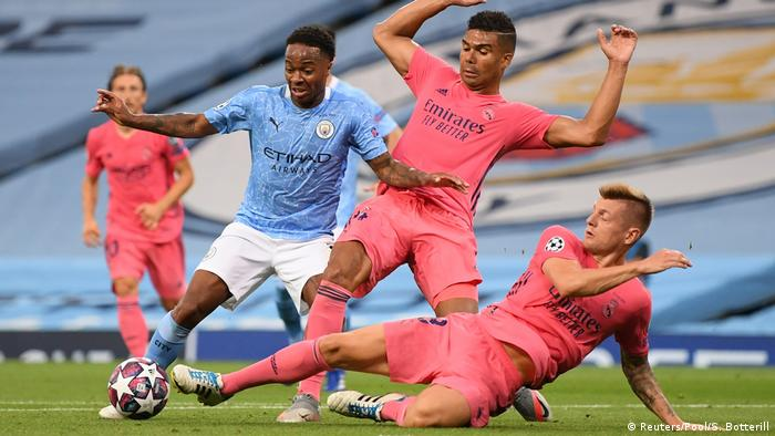 لقطة من مباراة العودة بدوري أبطال أوروبا بين مانشستر سيتي وريال مدريد (7 أغسطس/ آب 2020)