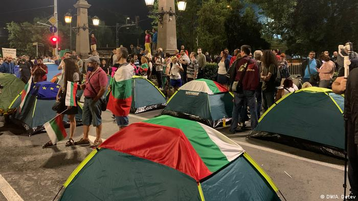 Bulgarien Anti-Regierungs-Proteste in Sofia