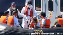 Ärmelkanal Aufbringung von Bootsflüchtlingen