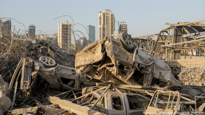 بندر تخریبشده لبنان