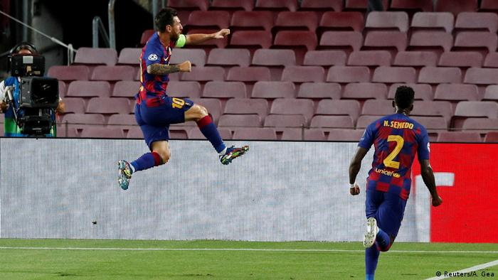Champions League - FC Barcelona v Napoli | Tor Messi (Reuters/A. Gea)