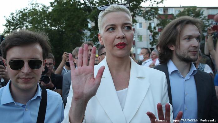 Weißrussland I Wahlen I Maria Kolesnikova (Imago Images/ITAR-TASS/N. Fedosenko)