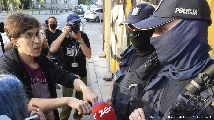 LGBT+ rights activist Margot confronting police