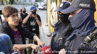 Активистка Марго незадолго до задержания