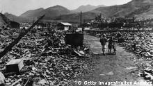 The ruins of Nagasaki after the dropping of the atomic bomb. (Photo by Hulton Archive/Getty Images)