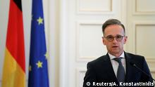 German Foreign Minister Heiko Maas speaks during a news conference at the Ministry of Foreign Affairs in Athens, Greece, July 21, 2020. REUTERS/Alkis Konstantinidis