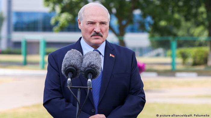 Президент Беларуси Александр Лукашенко в день выборов