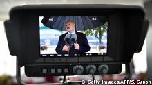 Weißrussland Minsk | Alexander Lukaschenko im Gespräch mit der Presse nach Stimmabgabe