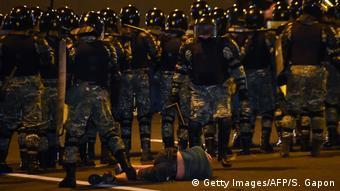 Weißrussland Wahlen Proteste Polizei (Getty Images/AFP/S. Gapon)