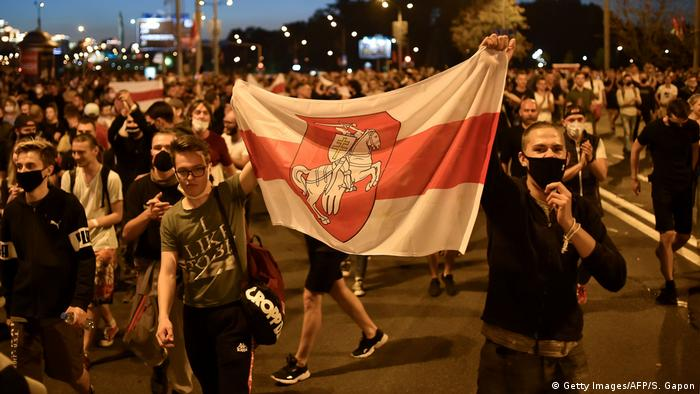 Акции протеста после выборов в Беларуси