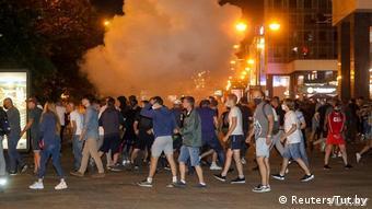 Демонстрантов разгоняли светошумовыми гранатами и слезоточивым газом