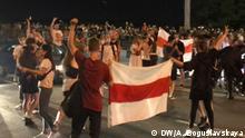 Minsk Proteste nach Präsidentschaftswahlen