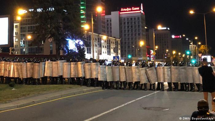 Minsk Proteste nach Präsidentschaftswahlen (DW/A. Boguslavskaya)