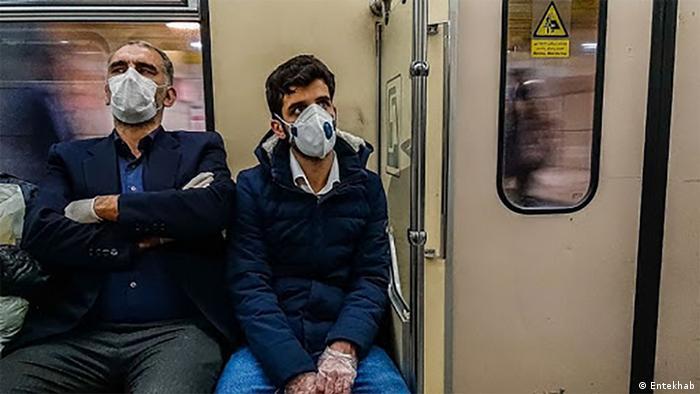 Iran Maskenpflicht in der U-Bahn (Entekhab)
