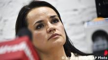 Belarus Präsidentschaftswahl Oppositionskandidatin Swetlana Tichanowskaja