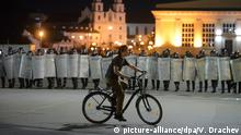 Proteste in Minsk am Wahlabend
