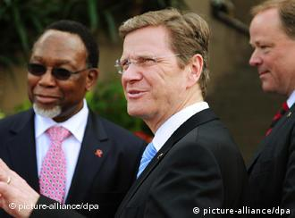 Foreign minister Guido Westerwelle and South African deputy President Kgalema Motlanthe