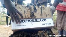 ***ACHTUNG: Bild nur zur abgesprochenen Berichterstattung verwenden!*** via Shewaye Legesse Plastikverschmutzung in Borena Äthiopien: nach einer medizinischen Operation 50 kg Plastik von einer Kuh entfernt . 10.08.2020 Copyright: Dr Firaol Wako