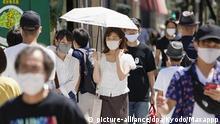 Japan Coronavirus Sommerhitze in Nagoya