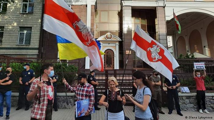 Акция у посольства Беларуси в Киеве