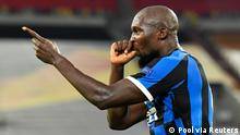 Europa League Viertelfinale - Inter Milan v Bayer Leverkusen | Tor Romelu Lukaku (Pool via Reuters)