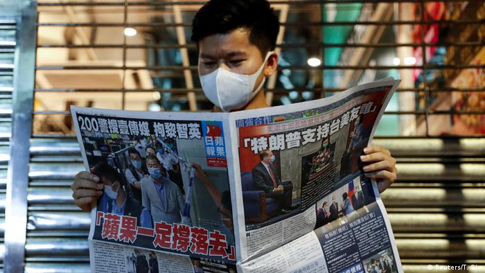 Hongkong Tageszeitung Apple Daily nach der Verhaftung von Jimmy Lai Chee-ying (Reuters/T. Siu)