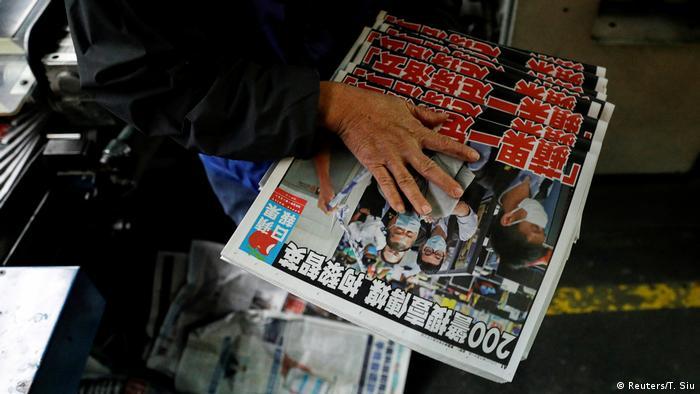 Hongkong Tageszeitung Apple Daily nach der Verhaftung von Jimmy Lai Chee-ying