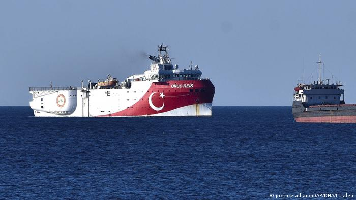 Research ship Oruc Reis in the Mediterranean