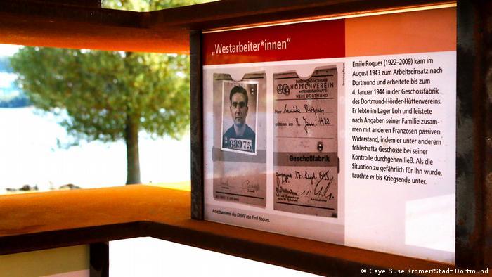 Монумент подневольным работникам в Дортмунде