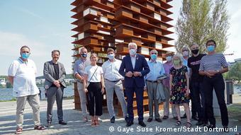 На открытии памятника жертвам принудительного труда при национал-социализме в Дортмунде