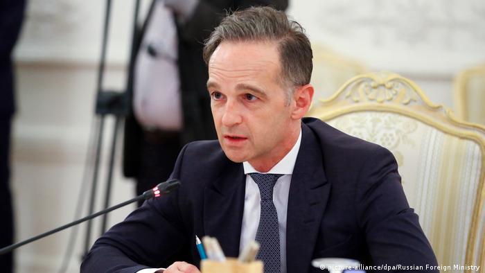 Хайко Мас на переговорах с Сергеем Лавровым в Москве, 11 августа 2020 года