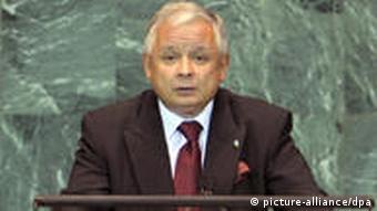 Polish President Lech Kaczynski