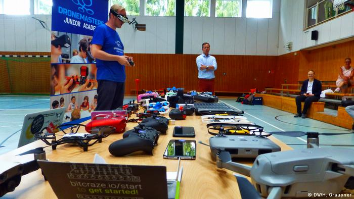 Trainers from the DroneMasters Academy visiting Grünheide in Brandenburg, Germany