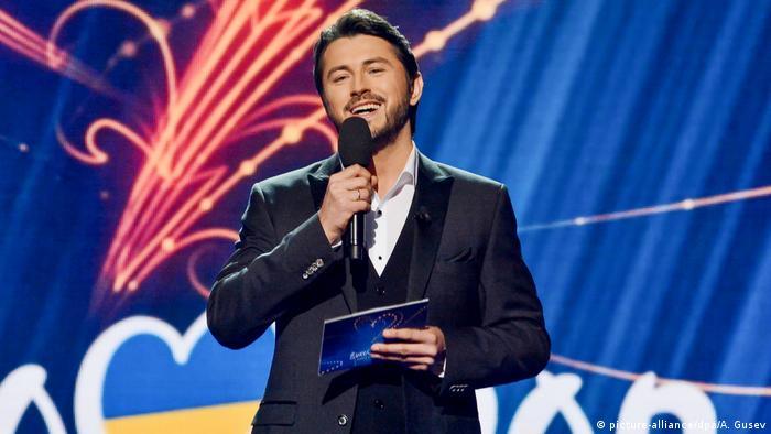 Шоумен Сергій Притула під час Євробачення у 2019 році