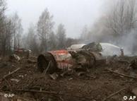 На месте крушения польского самолета