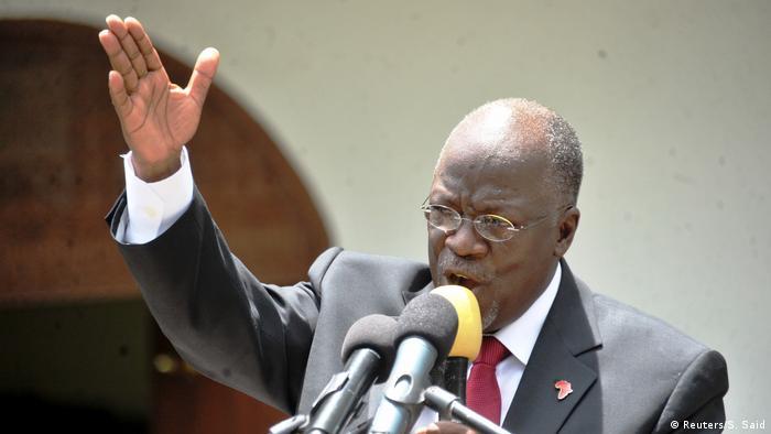 Tansania Wahlkampagne John Magufuli Rede in Dar es Salaam