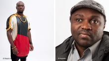 ***ACHTUNG: Bild nur abgesprochenen Berichterstattung verwenden!*** via Bob Barry Links: AYISSI NGA Joseph-Marie, Designer aus Kamerun / Autor : Wazal couture Rechts: Mason Ewing, Designer aus Kamerun / Autor : Augustin
