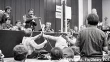 40 Jahre Solidarnosc I Streik in der Leninwerft in Danzig, August 1980 im BHP-Saal